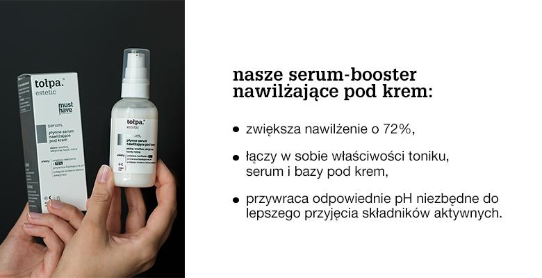 Infografika - serum-booster nawilżające pod krem