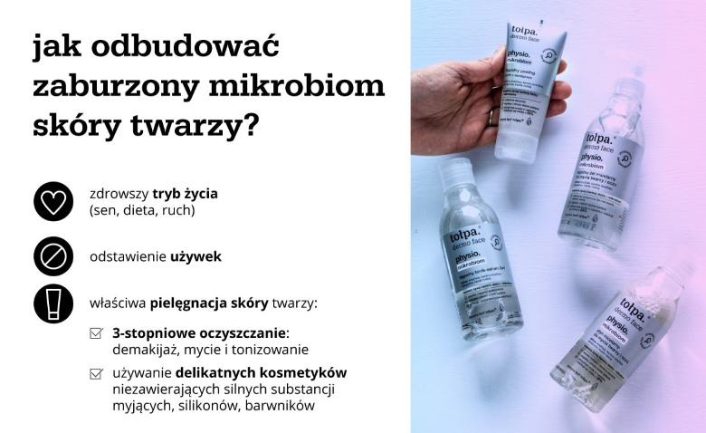 infografika: jak odbudować zaburzony mikrobiom skóry twarzy