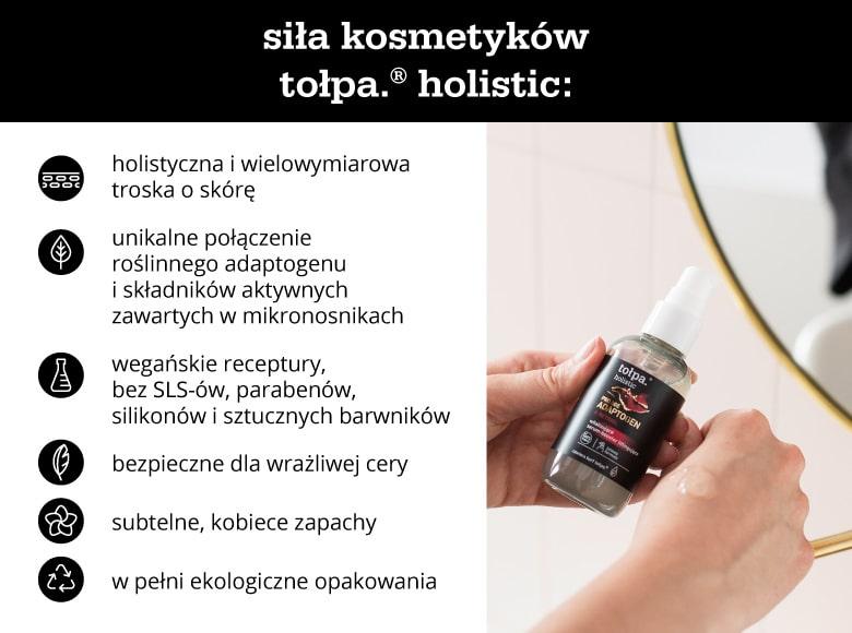 Siła kosmetyków tołpa holistic - infografika