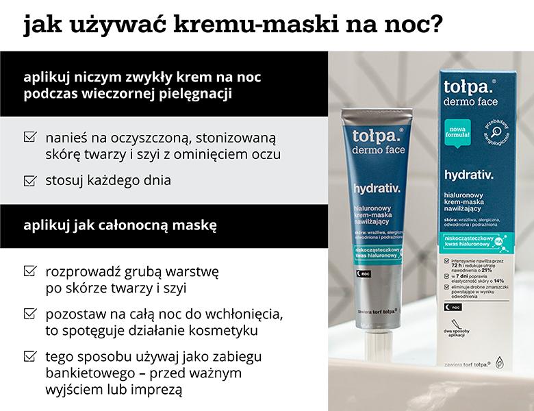 Jak używać kremu-maski na noc? - infografika