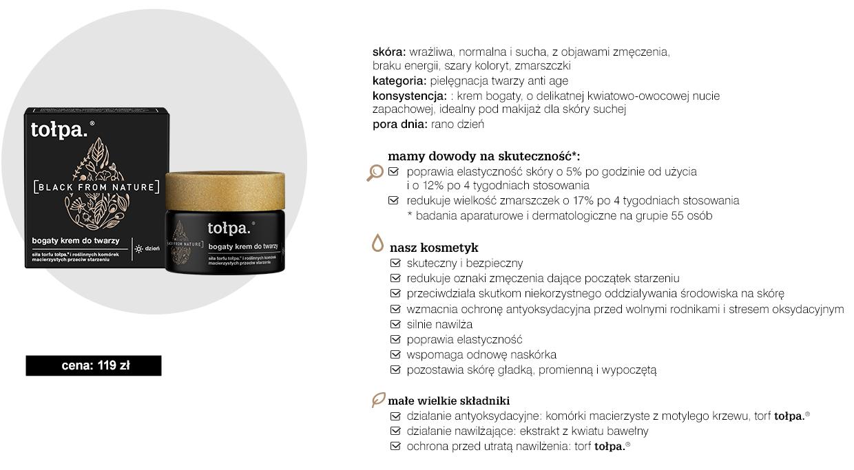 kosmetyki tołpa spa detoks zawierające borowinę