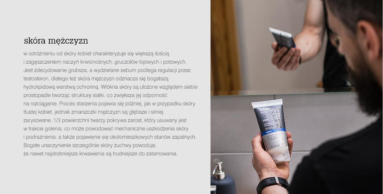 dlaczego mężczyźni powinni używać innych kosmetyków niż kobiety